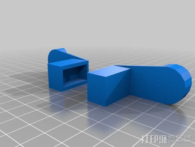 线轴支撑架 3D模型  图11