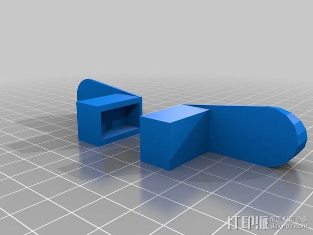 线轴支撑架 3D模型  图10