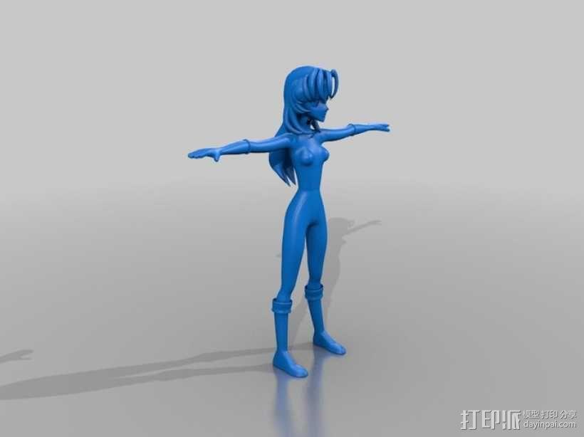 漫画人物 小女孩  3D模型  图1