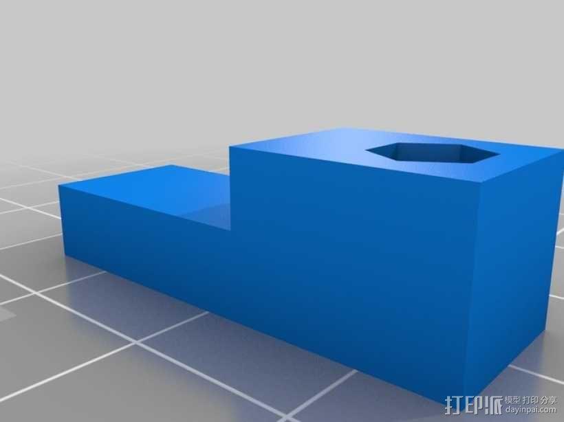 打印机Z轴高度校准器 3D模型  图3