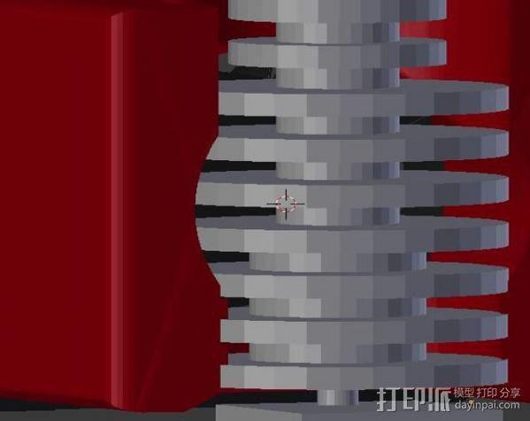 40毫米的风扇支架 3D模型  图3