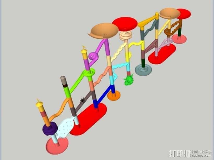 Marble Run游戏造型模型 3D模型  图1