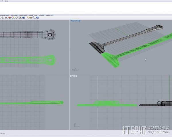 调平器手柄 3D模型  图14