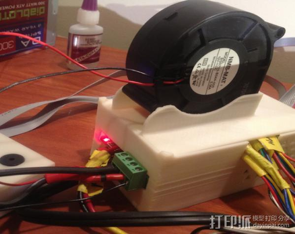RAMPS 1.4 电路板保护盒 3D模型  图3