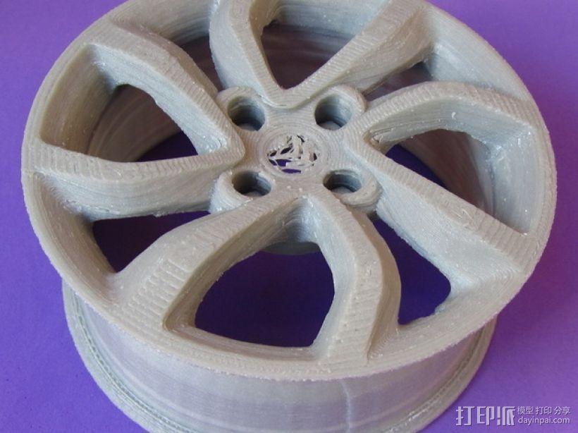 雪铁龙汽车车轮 3D模型  图1
