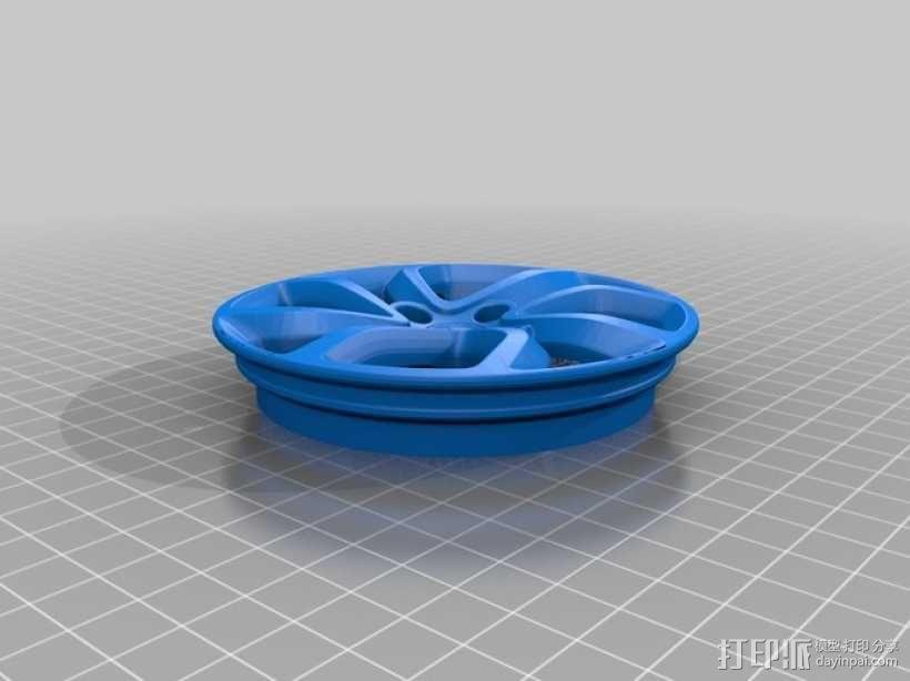 雪铁龙汽车车轮 3D模型  图2