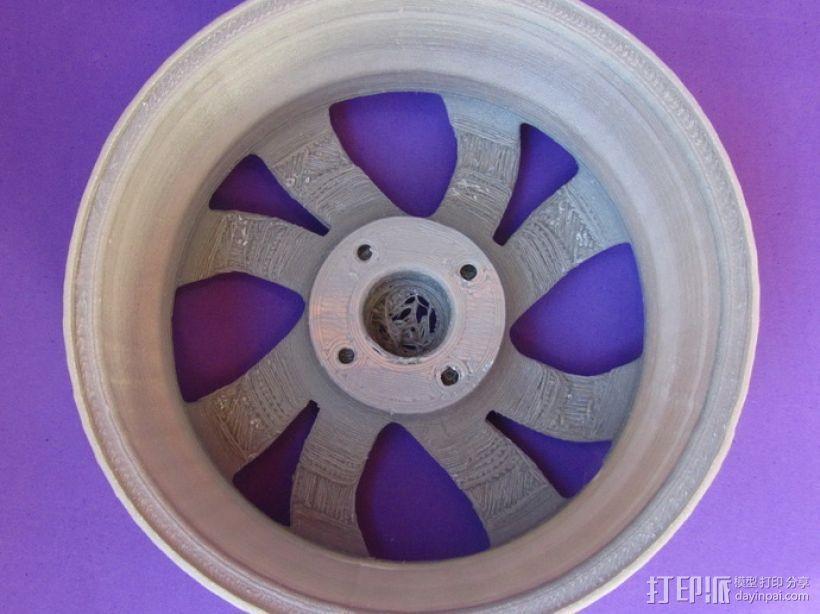 雪铁龙汽车车轮 3D模型  图5