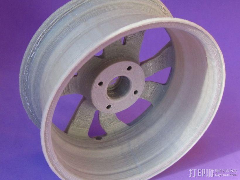 雪铁龙汽车车轮 3D模型  图4