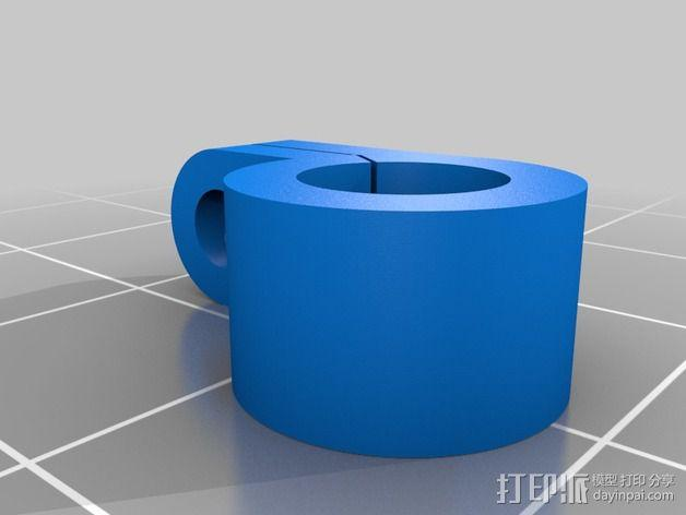 Solidoodle打印机的电缆夹 3D模型  图1