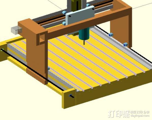 GantryCNC 3D打印机 3D模型  图1