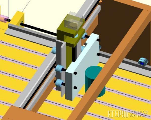 GantryCNC 3D打印机 3D模型  图4