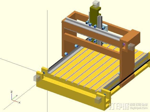 GantryCNC 3D打印机 3D模型  图3