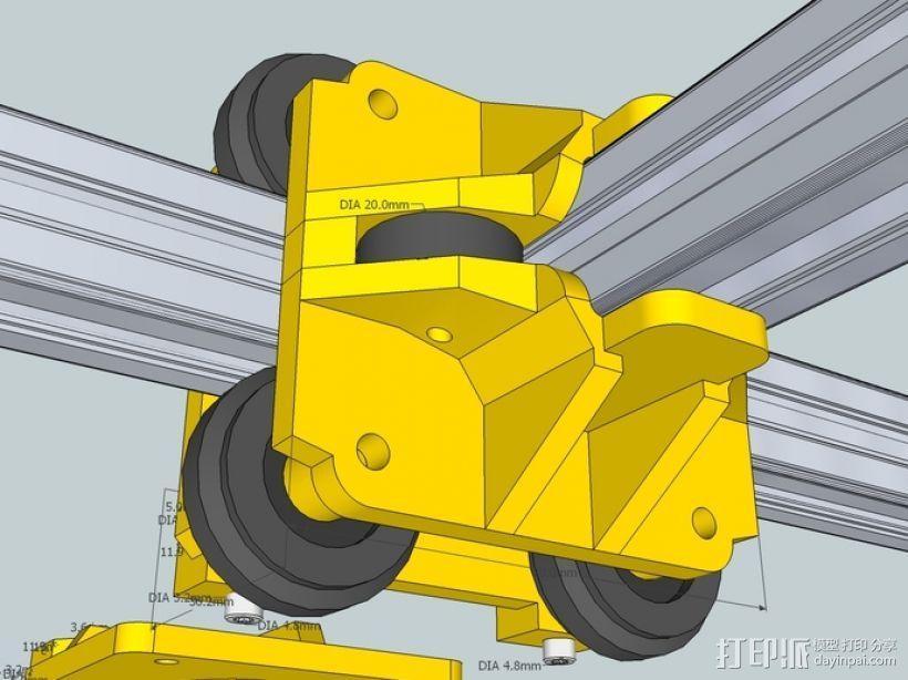 挤出机铝制门架套件 3D模型  图3