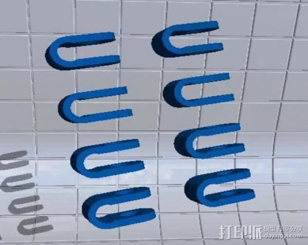 Prusa air 2打印机的轴杆夹 固定夹  3D模型  图2