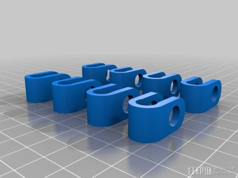 Prusa air 2打印机的轴杆夹 固定夹  3D模型  图1