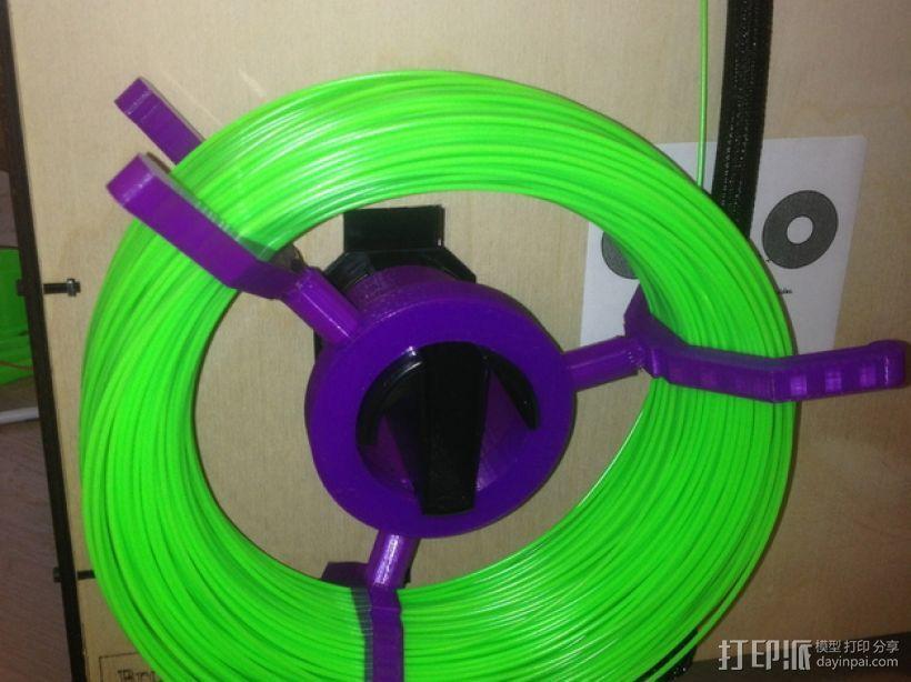 可调节尺寸的线轴支架 3D模型  图1