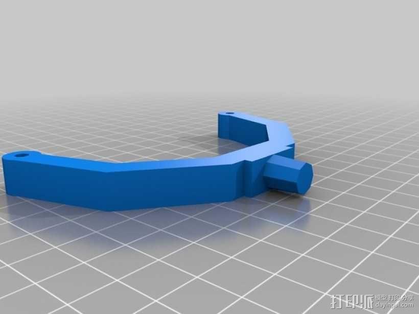 可调节尺寸的线轴支架 3D模型  图4