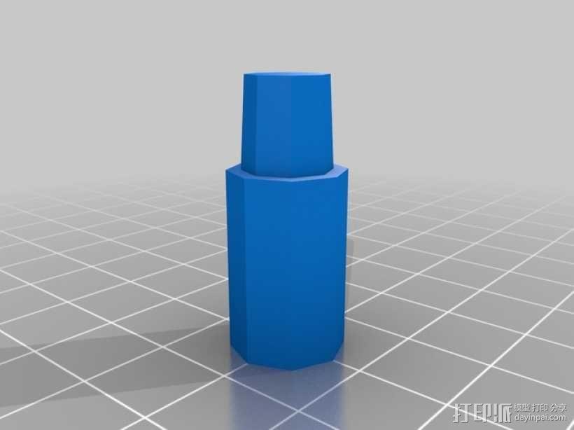 可调节尺寸的线轴支架 3D模型  图7