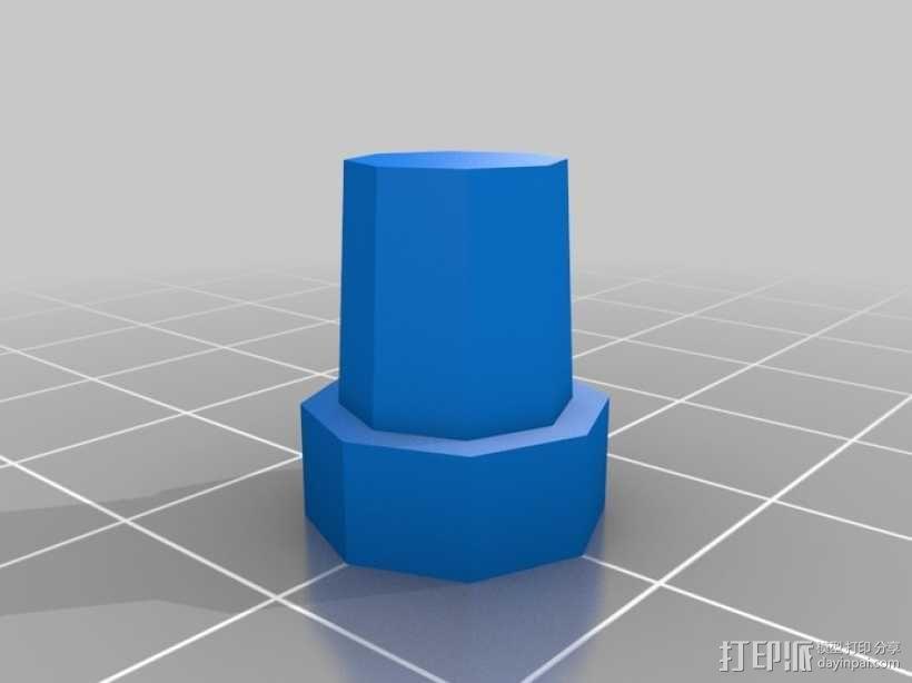 可调节尺寸的线轴支架 3D模型  图6