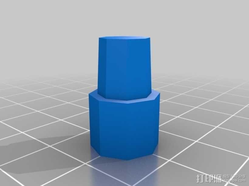 可调节尺寸的线轴支架 3D模型  图8