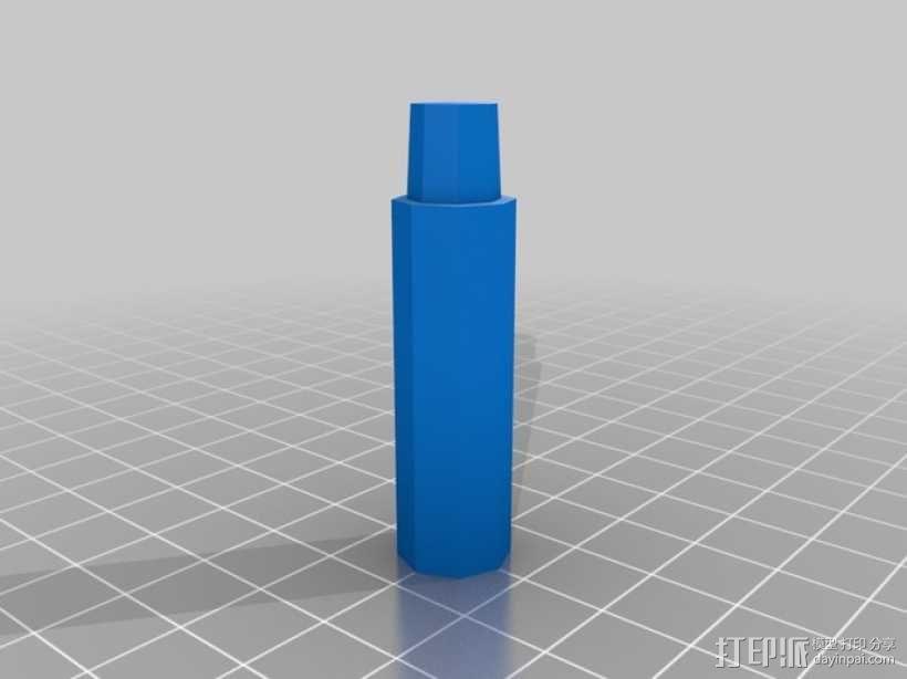 可调节尺寸的线轴支架 3D模型  图11