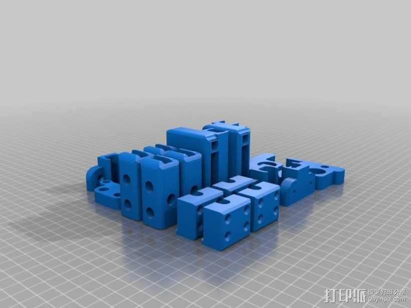 Prusa i3打印机打印床托盘 3D模型  图1
