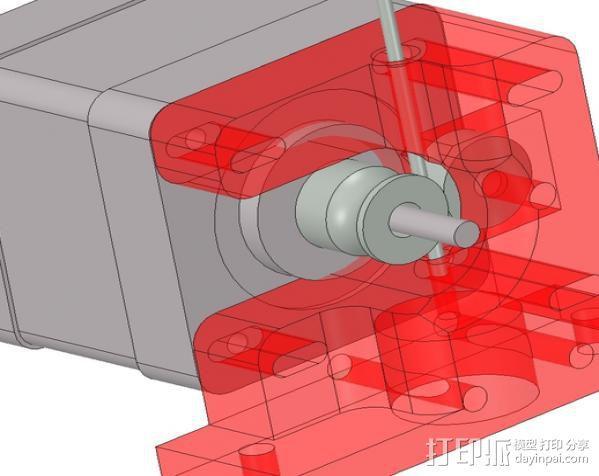 1.75毫米线材挤出机 3D模型  图1