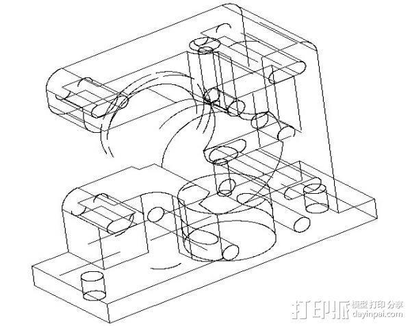 1.75毫米线材挤出机 3D模型  图5