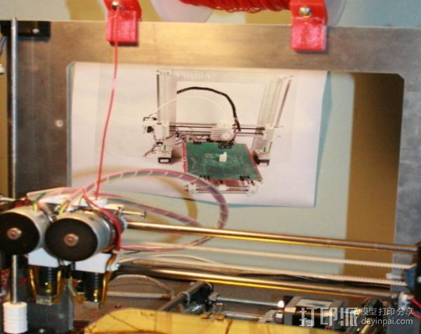 Prusa i3打印机线轴支架 3D模型  图2