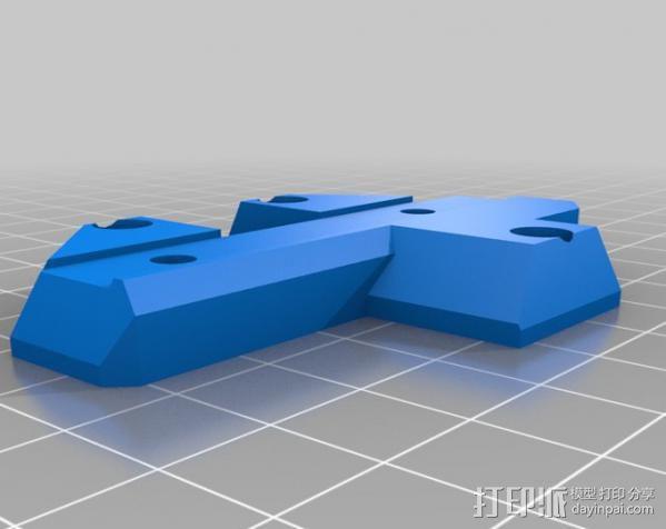 Wade挤出机适配器 3D模型  图5