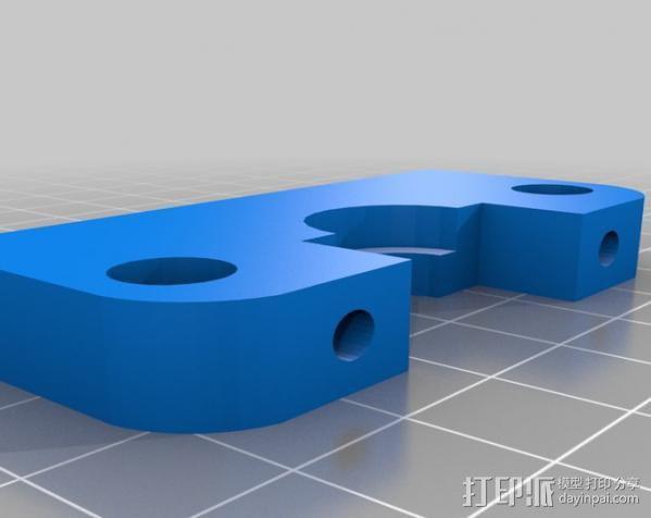 Wade挤出机适配器 3D模型  图6
