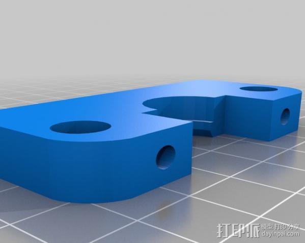 Wade挤出机适配器 3D模型  图9