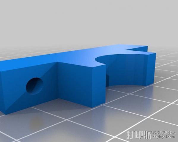 Wade挤出机适配器 3D模型  图12