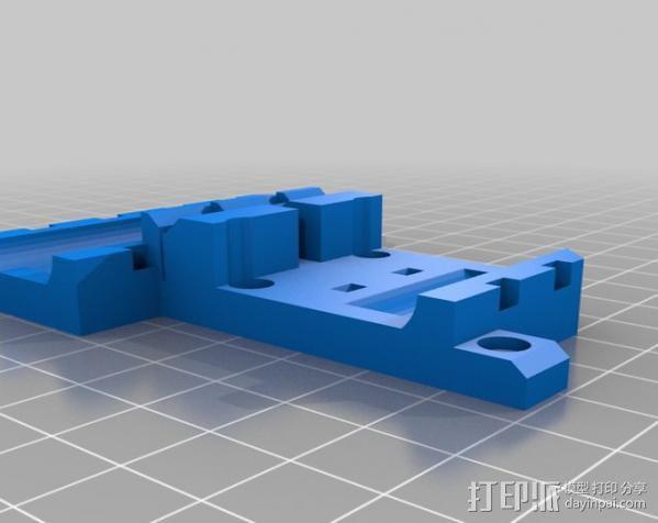 Wade挤出机适配器 3D模型  图14