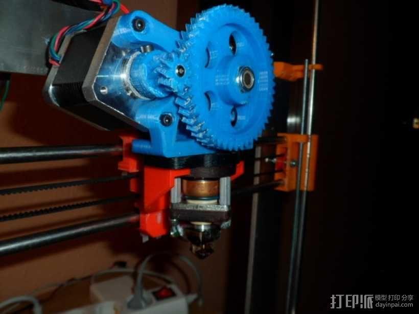 Gregs-Wade-挤出机支架 3D模型  图1