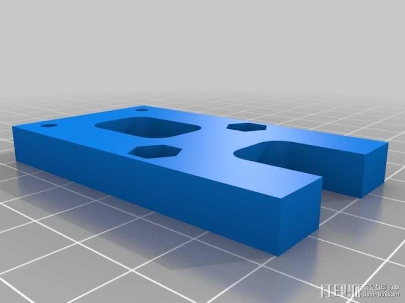 Gregs-Wade-挤出机支架 3D模型  图2