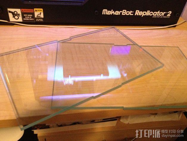 Replicator 2打印机的打印床 3D模型  图1
