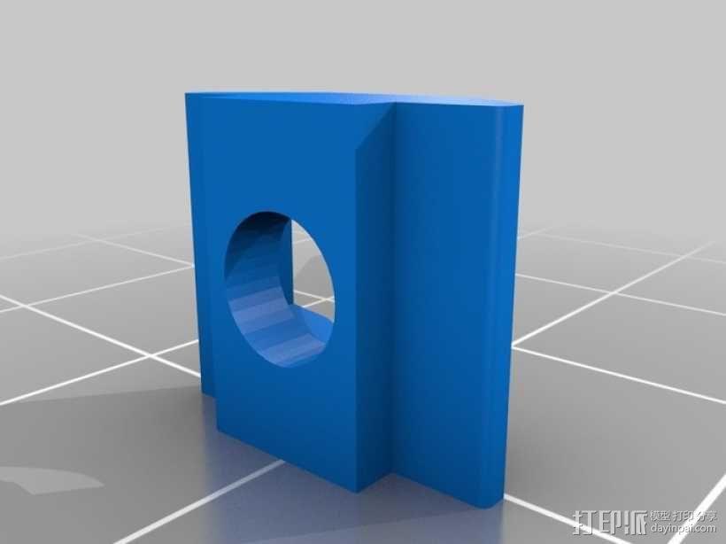 M3 & M4螺母板 3D模型  图1