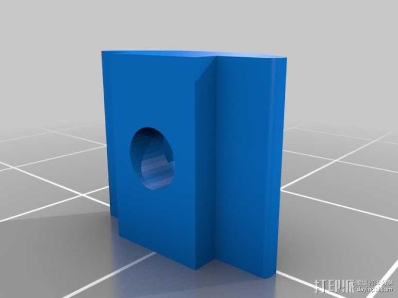 M3 & M4螺母板 3D模型  图2