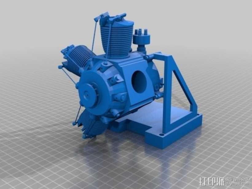 星型发动机 3D模型  图1