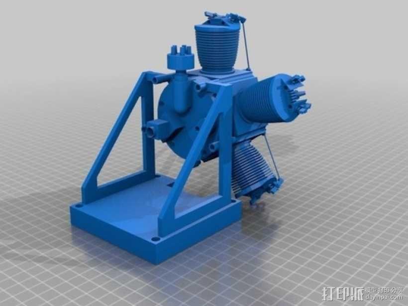 星型发动机 3D模型  图2