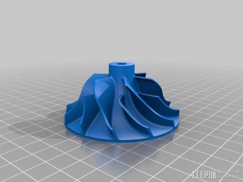 压气机叶轮 3D模型  图5