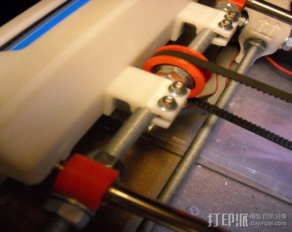 螺杆支架 控制器保护罩 3D模型  图2