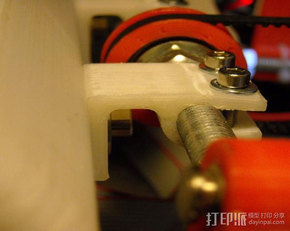 螺杆支架 控制器保护罩 3D模型  图3