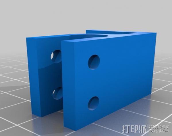 螺杆支架 控制器保护罩 3D模型  图4
