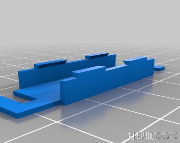 电缆锁夹 3D模型  图2