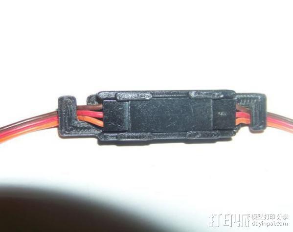 电缆锁夹 3D模型  图1
