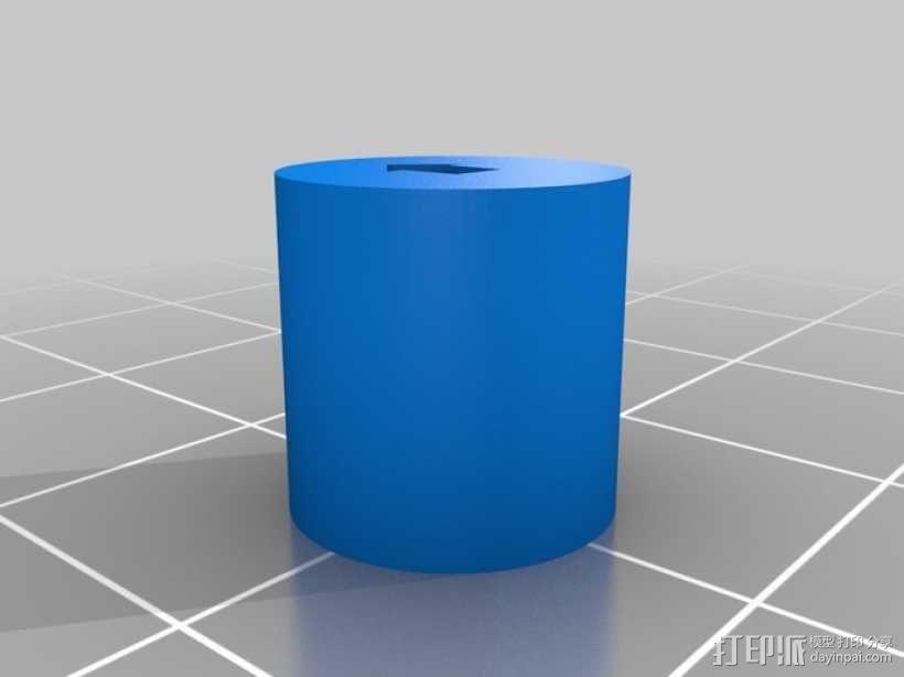 圆柱 3D模型  图1