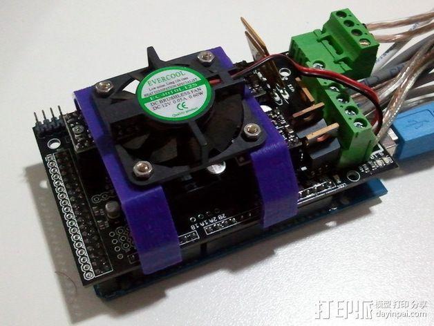 电路板风扇支架 3D模型  图3