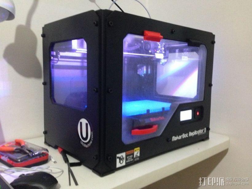 Replicator 2打印机外罩 3D模型  图1
